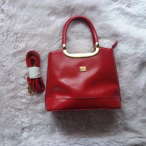 NEW Vintage Red & Gold Sam Reno Tote/Crossbody Bag
